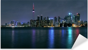 Adesivo Pixerstick Toronto city at night