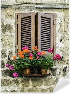 Adesivi finestre pixers viviamo per il cambiamento for Case tradizionali italiane