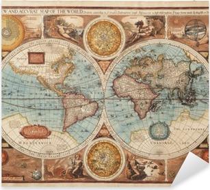 Adesivo Pixerstick Vecchia mappa (1626)