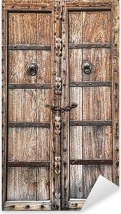 Adesivo Pixerstick Vecchia porta di legno