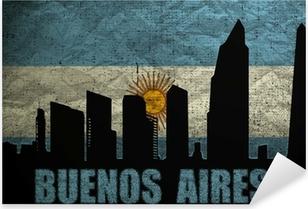 Adesivo Pixerstick Veduta di Buenos Aires