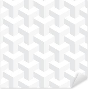 Adesivo Pixerstick Vettore irreale tessitura, disegno astratto, la costruzione illusione, sfondo bianco