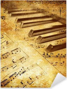 Adesivo Pixerstick Vintage background musicale
