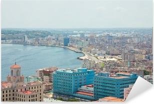 Adesivo Pixerstick Vista aerea del litorale dell'Avana