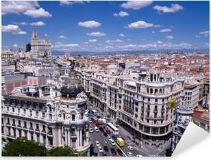 Adesivo Pixerstick Vista della Gran Via di Madrid (Spagna)