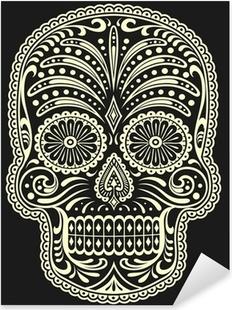 Adesivo Pixerstick Zucchero Skull