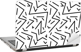Adesivo para Notebook Teste padrão do vintage geométrico sem emenda no estilo dos anos 80 retro, Memphis. Ideal para o projeto tecido, impressão de papel e website pano de fundo. arquivo do vetor EPS10
