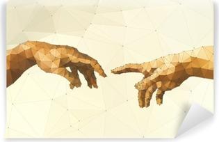 Afwasbaar Fotobehang Abstract Gods hand vector illustratie