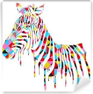 Afwasbaar Fotobehang Abstract zebra - vector illustratie