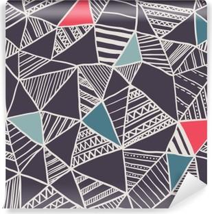 Afwasbaar Fotobehang Abstracte naadloze doodle patroon