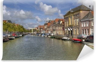 Afwasbaar Fotobehang Alkmaar Canal, Holland
