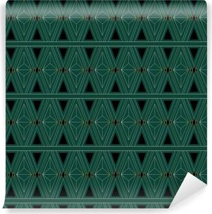 Afwasbaar Fotobehang Art Deco Patroon van de Driehoek