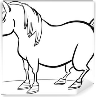 Paarden Kleurplaten Is Mijn Pony.Sticker Cartoon Pony Paard Kleurplaat Pixers We Leven