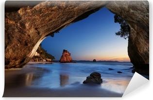 Afwasbaar Fotobehang Cathedral Cove - Nieuw-Zeeland