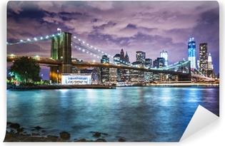 Afwasbaar Fotobehang De lichten van New York City