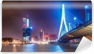 Afwasbaar Fotobehang Erasmusbrug Rotterdam