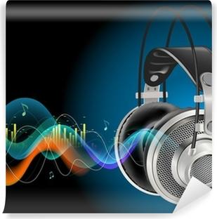Afwasbaar Fotobehang Headphones