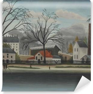 Afwasbaar Fotobehang Henri Rousseau - Scène uit de voorsteden