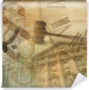 Afwasbaar Fotobehang Justitie Collage