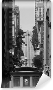 Afwasbaar Fotobehang Kabelbaan in San Francisco
