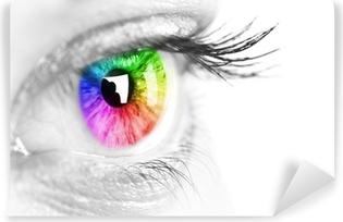 Afwasbaar Fotobehang Kleurrijk oog Ruimte voor tekst.