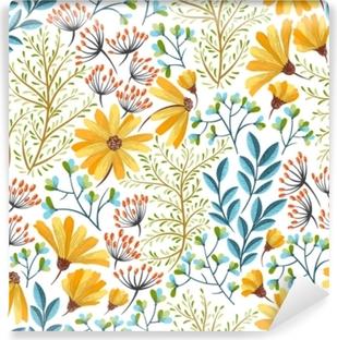 Afwasbaar Fotobehang Lente bloemenpatroon