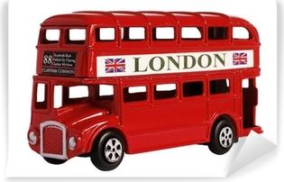 Afwasbaar Fotobehang Londen bus