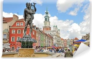 Afwasbaar Fotobehang Marktplein, Poznan, Polen