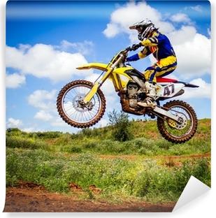 Afwasbaar Fotobehang Motorcrosser