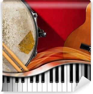 Afwasbaar Fotobehang Muziekinstrumenten Achtergrond