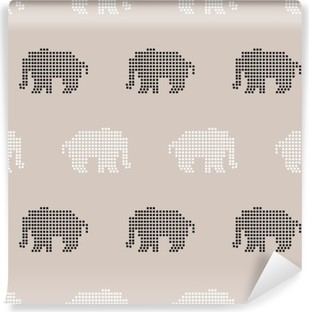 Afwasbaar Fotobehang Naadloos olifantspatroon