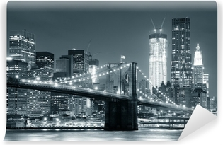 Afwasbaar Fotobehang New York Brooklyn Bridge