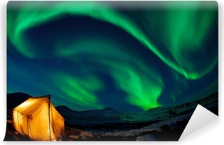 Afwasbaar Fotobehang Noorderlicht