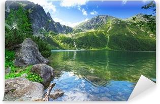Afwasbaar Fotobehang Oog van de zee meer in Tatra gebergte, Polen