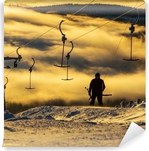Afwasbaar Fotobehang Skigebied