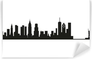 Afwasbaar Fotobehang Skyline van New York