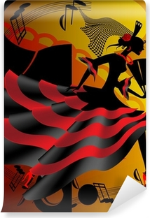 Afwasbaar Fotobehang Spaanse dans