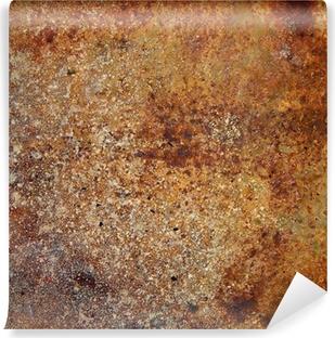 Afwasbaar Fotobehang Sterk roestige metalen plaat