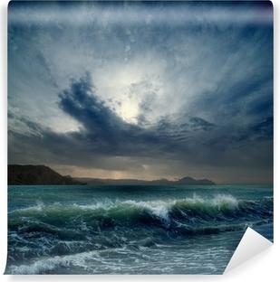 Afwasbaar Fotobehang Stormachtige zee
