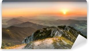 Afwasbaar Fotobehang Sunset landschap