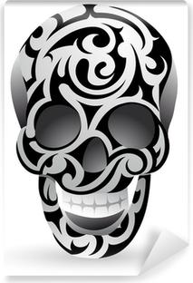 Afwasbaar Fotobehang Tribal schedel