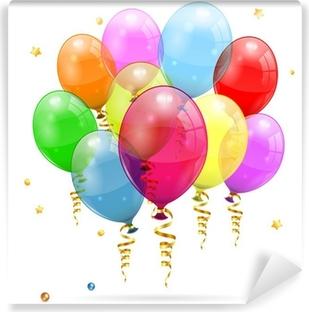 Afwasbaar Fotobehang Verjaardag Ballonnen