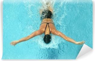 Afwasbaar Fotobehang Vlinder zwemmer