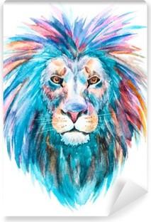 Afwasbaar Fotobehang Watercolor vector leeuw