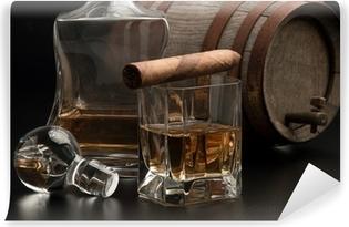 Afwasbaar Fotobehang Whisky & Sigaro