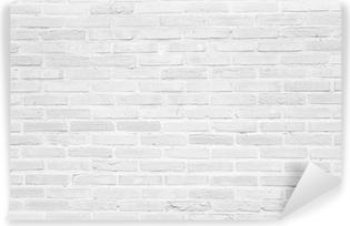 Afwasbaar Fotobehang White grunge bakstenen muur textuur achtergrond
