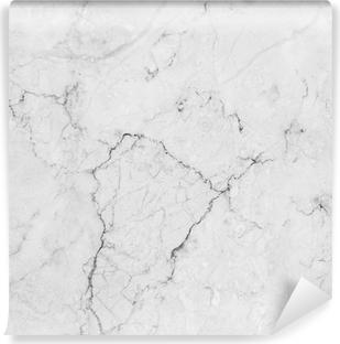 Afwasbaar Fotobehang Wit marmer met natuurlijke patroon.