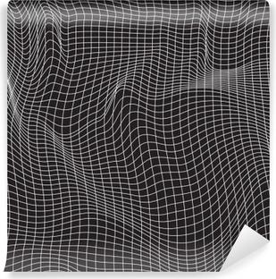 Afwasbaar Fotobehang Witte lijnen, abstractie samenstelling, bergen, vectorontwerpachtergrond