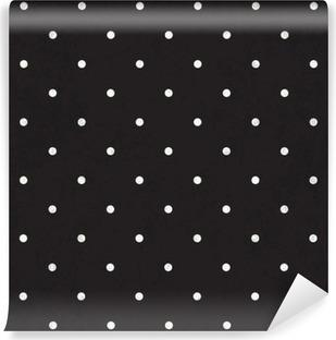 Afwasbaar Fotobehang Zwarte polka dot achtergrond