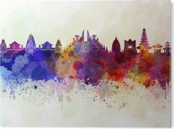 Bali skyline i akvarel baggrund Akryl Tryk